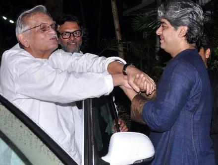 Gulzar at Shaad Ali's Eid bash in Juhu, Mumbai on 9th Aug 2013