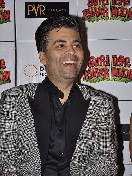 Karan Johar at the First look launch of Gori Tere Pyaar Mein in Mumbai on 10th Sept 2013