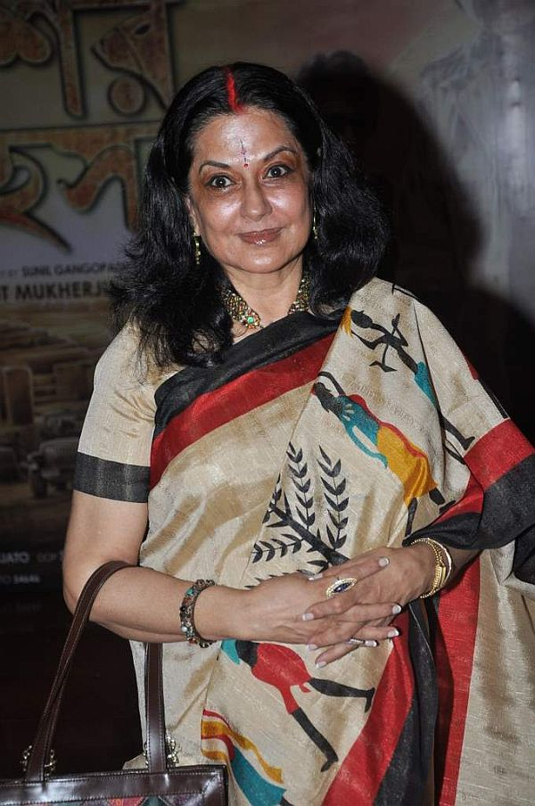 Moushumi Chatterjee at the premiere of bengali Film in Cinemax, Mumbai on 9th Oct 2013