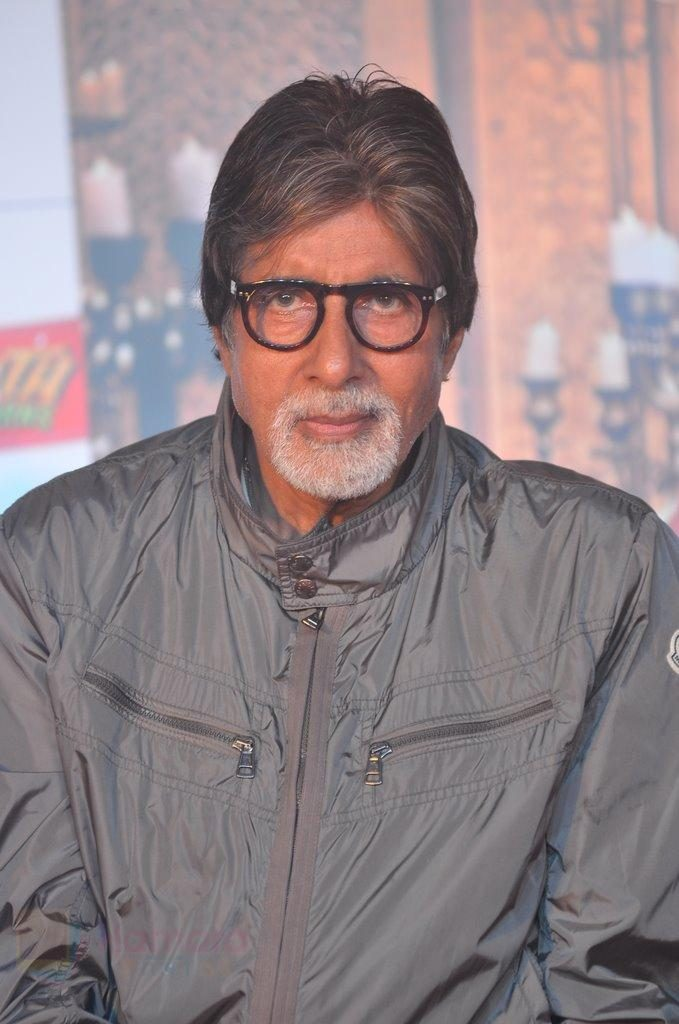 Amitabh Bachchan at Bhootnath Returns promotions in Prabhadevi, Mumbai on 22nd March 2014