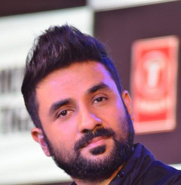 Vir Das at the Press conference of Revolver Rani in J W Marriott, Mumbai on 10th April 2014