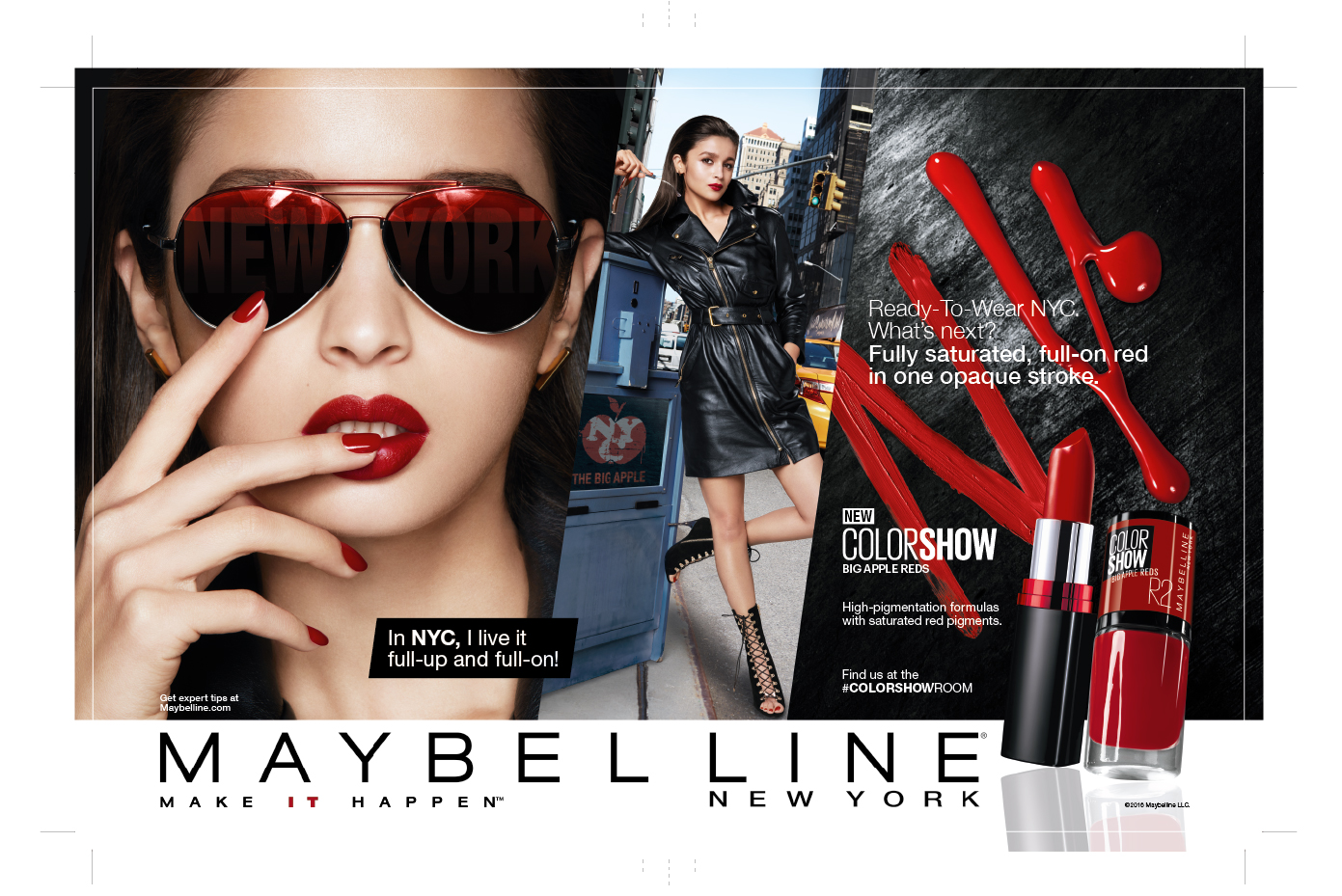 Alia Bhatt for Maybelline New York Big Apple Reds