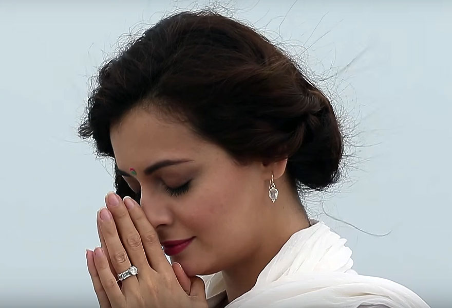 Dia Mirza in Ganga - The Soul Of India