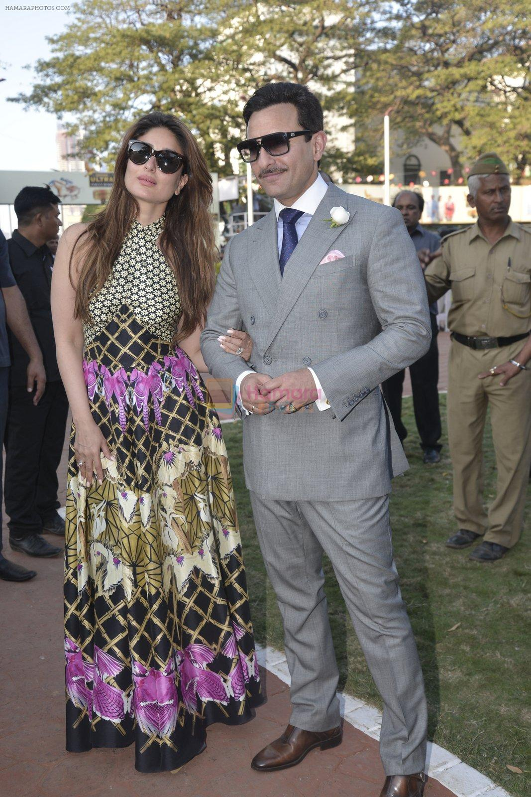 Kareena Kapoor, Saif Ali Khan at Kingfisher Ultra Derby 2016 on 7th Feb 2016