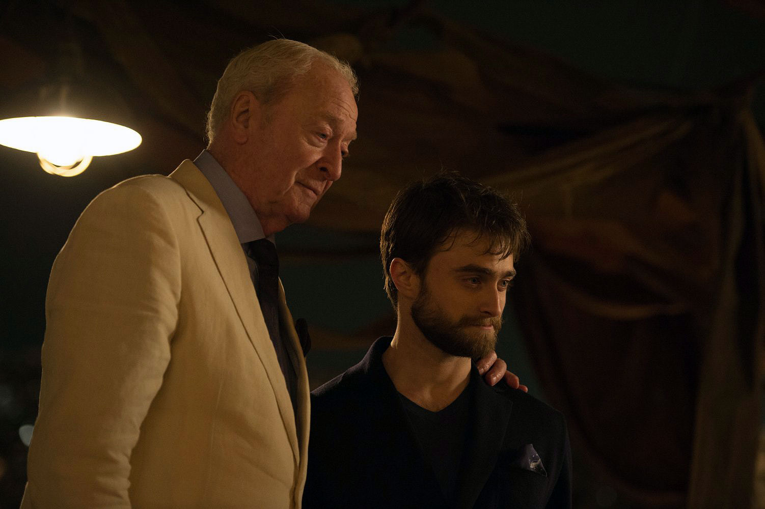 Michael Caine and Daniel Radcliffe in Now You See Me 2