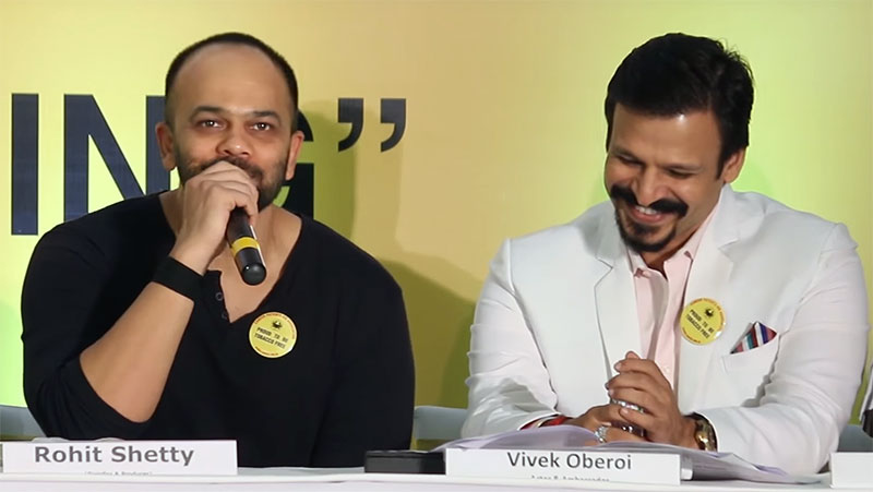Rohit Shetty and Vivek Oberoi at the World No Tobacco Day 2016 for the Cancer Patients Aid Association on 11th June 2016