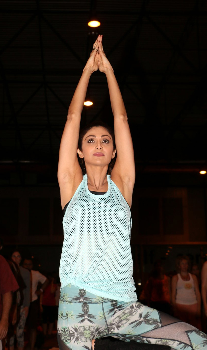 Shilpa Shetty at the IIFA Stomp Yoga Masterclass 2016 on 25th June 2016