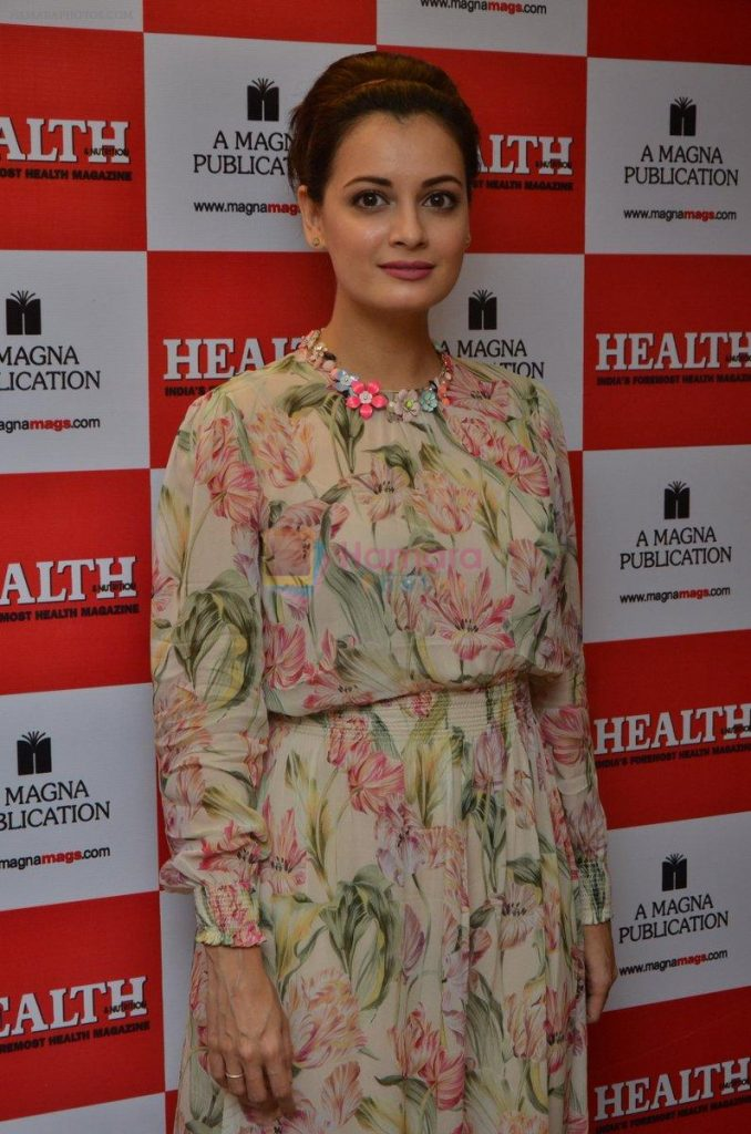 Dia Mirza during the unveiling of Health and Nutrition Magazine cover at Magna Lounge on 21 July 2016