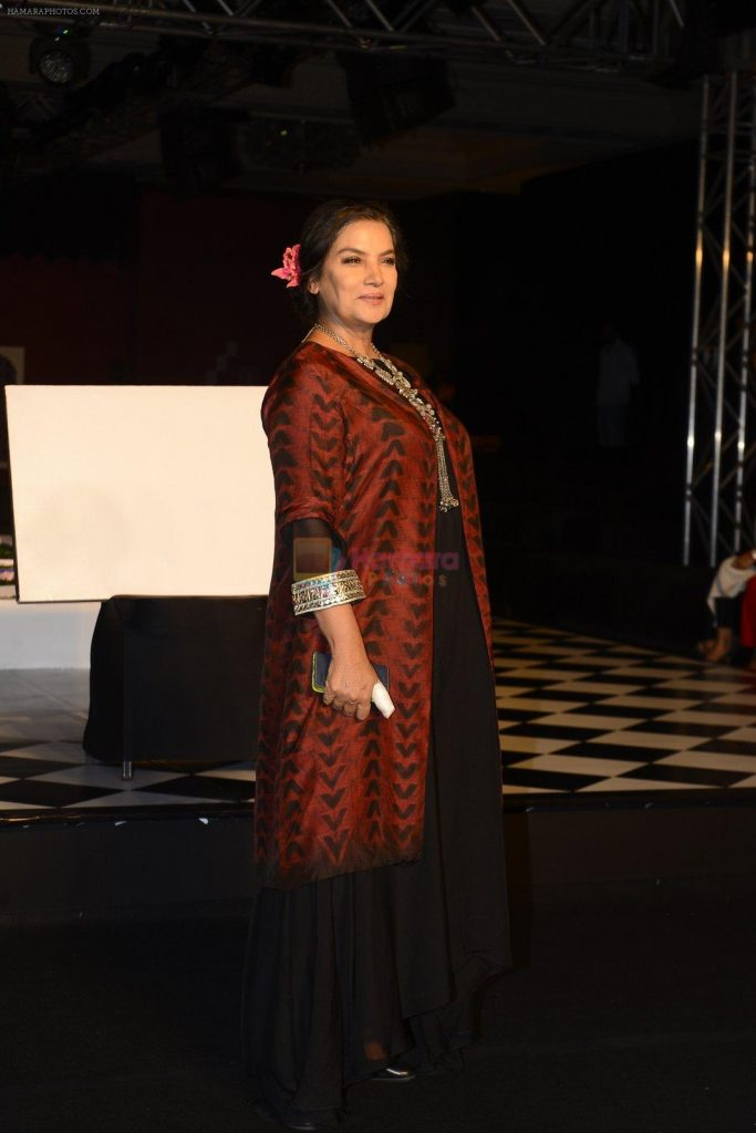 Shabana Azmi walk the ramp for Anita Dongre show at the FDCI India Couture Week 2016 on 21st July 2016