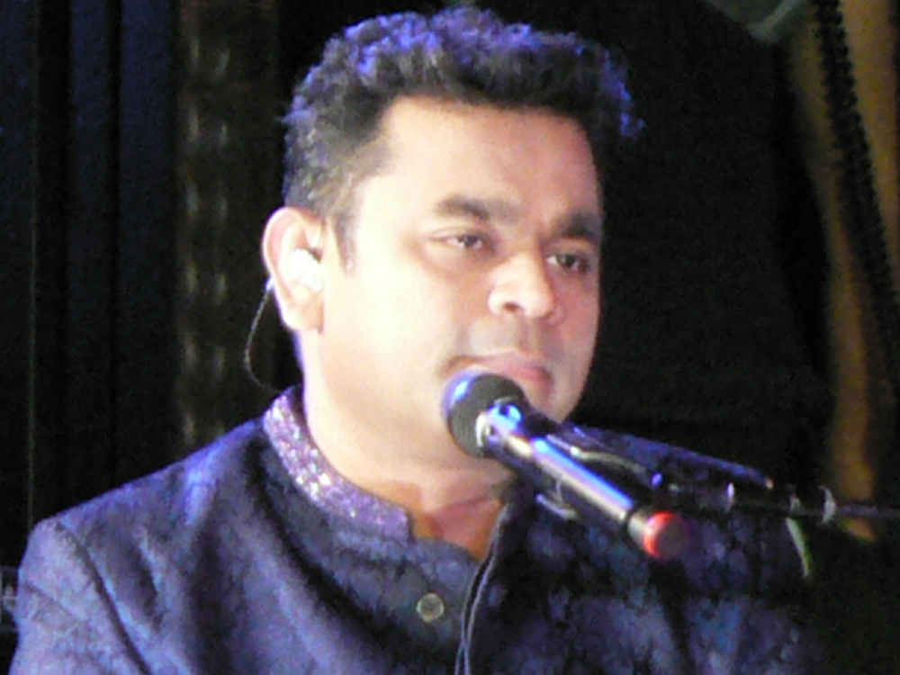"A R Rahman and his ensemble belt out ""Jai Ho"" at the Indian Independence Day concert at the United Nations on Aug. 15, 2016, 50 years after M S Subbulakshmi's historic concert"