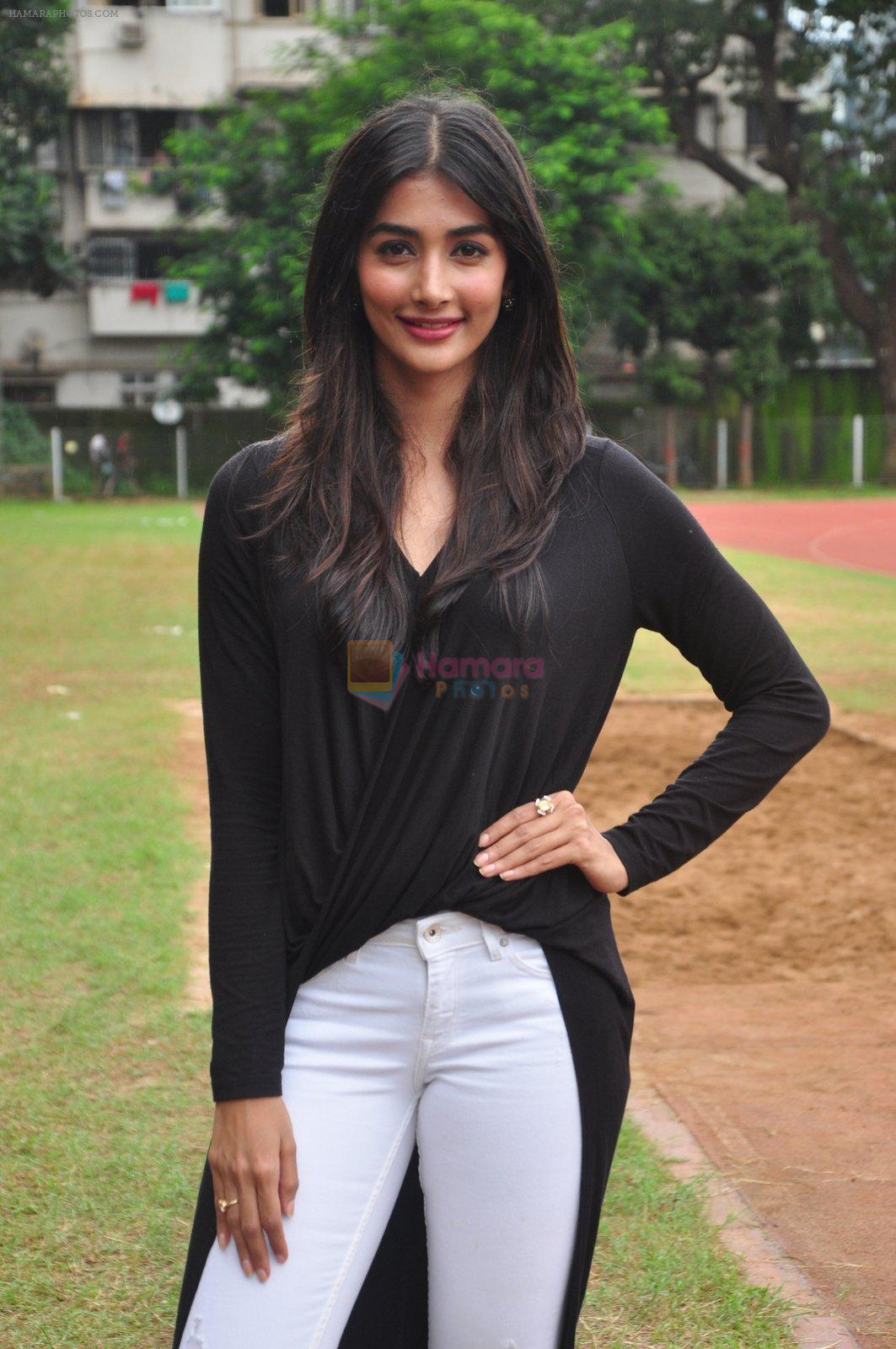 Pooja Hegde snapped at a school sports day on 2nd Sept 2016