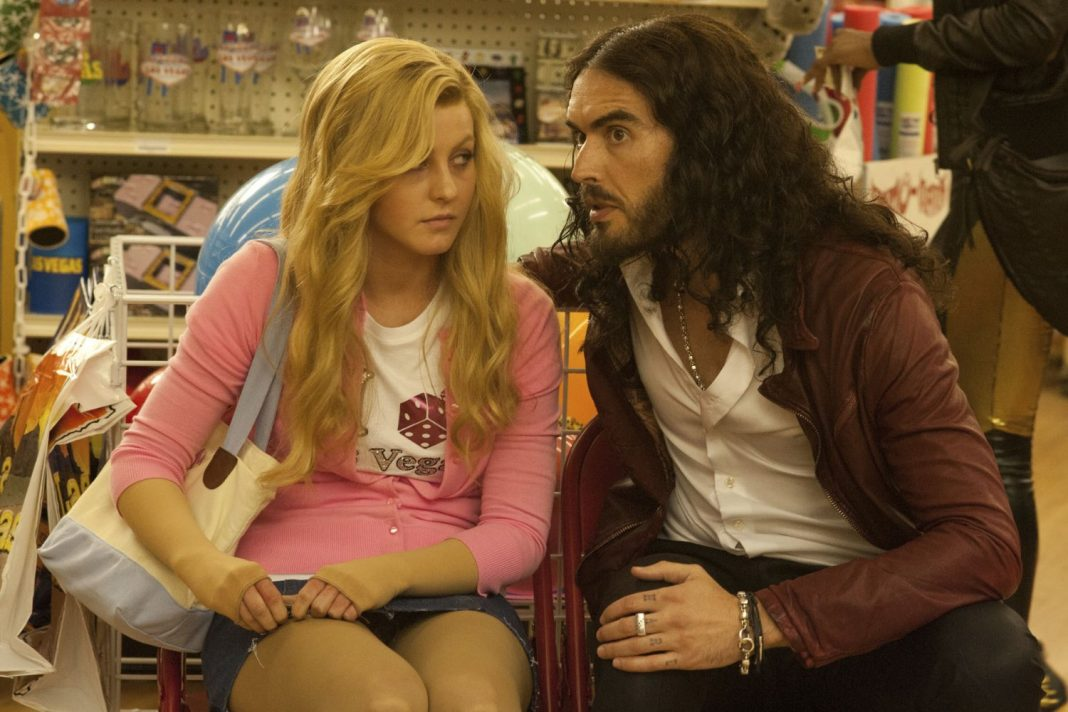 Russell Brand and Julianne Hough in Paradise