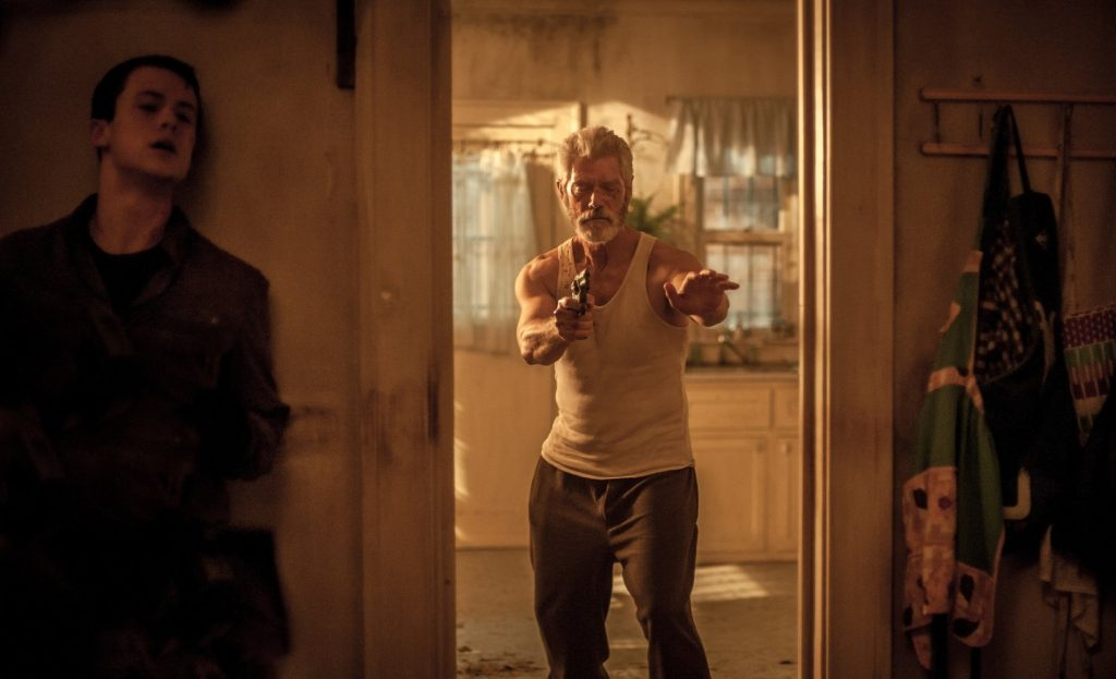 Stephen Lang and Dylan Minnette in Don't Breathe