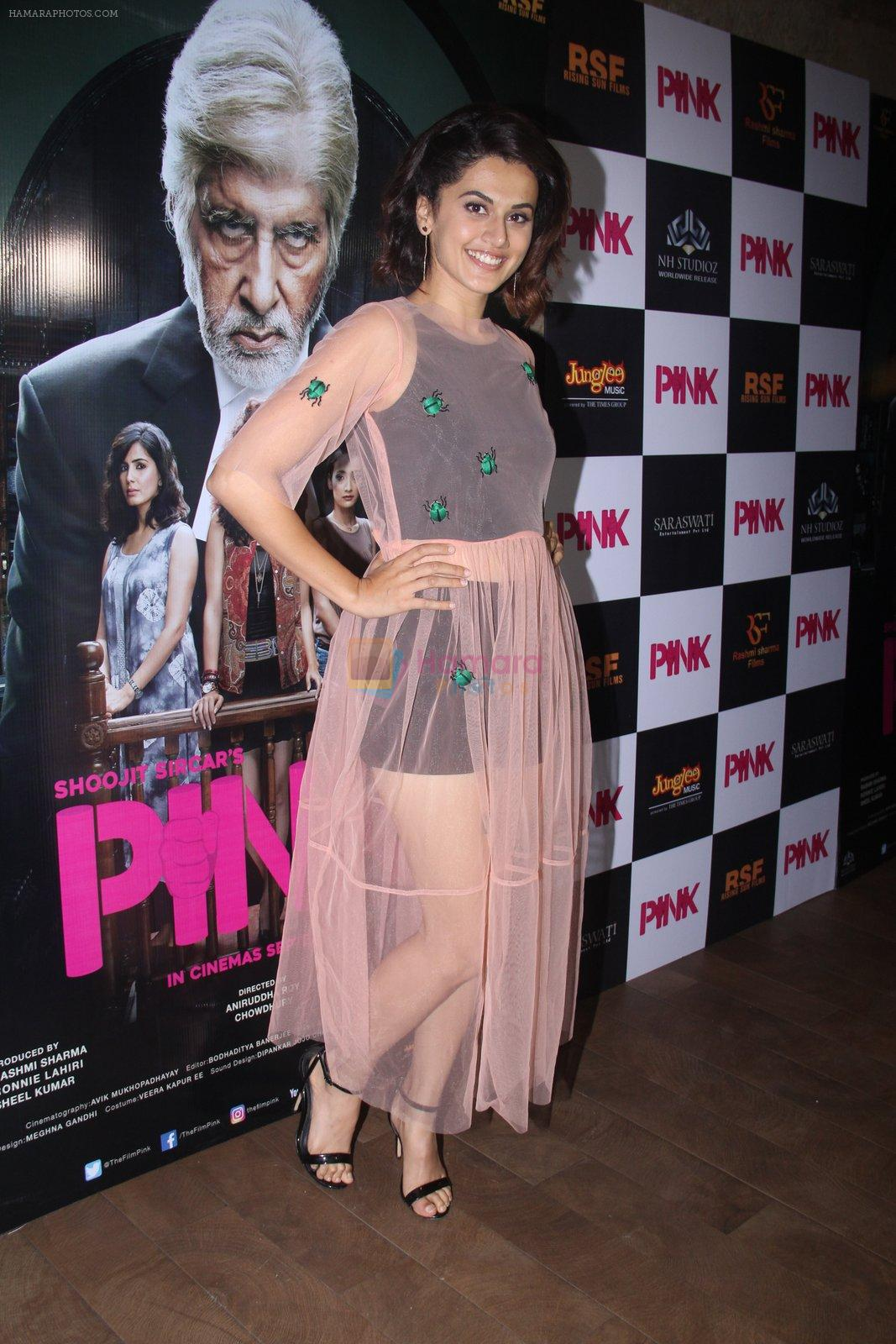 Taapsee Pannu at Pink Screening in Lightbox on 12th Sept 2016