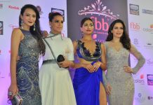 Parvathy Omanakuttan, Neha Dhupia, Dipannita Sharma, Waluscha De Sousa during Miss India Grand Finale Red Carpet on 24th June 2017
