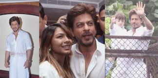 Shah Rukh Khan celebrates Eid with his son Abram Khan and Tanishaa Mukerji on Ramzan day on 26th June 2017
