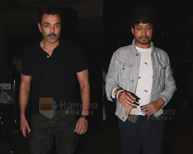 Bobby Deol and Irrfan Khan spotted at the Airport on 14th July 2017