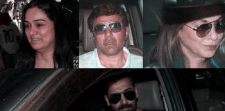 Padmini Kolhapure, Sunny Deol, Dimple Kapadia and John Abraham spotted at airport on 10th July 2017