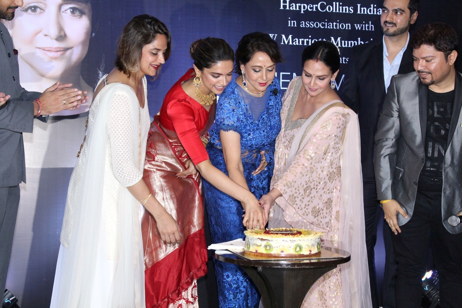 Deepika Padukone, Esha Deol, Ahana Deol At Launch Of Hema Malini ... for Sunny Deol And Hema Malini Together  70ref