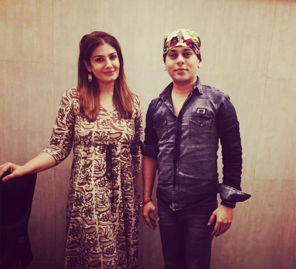 Raveena Tandon with Viveck Shettyy